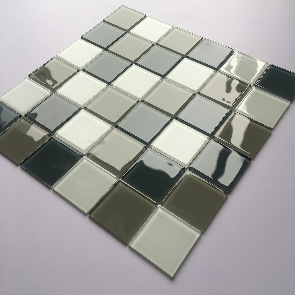 cheap wholesale crystal mosaic 4mm thickness Glass Mosaic Mosaic for swimming pool/bathroom and kitchen Foshan China