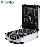187 Pc Aluminum Tool Kit Suitcase Portable Hardware Combination Tool set for auto repair and maintenance
