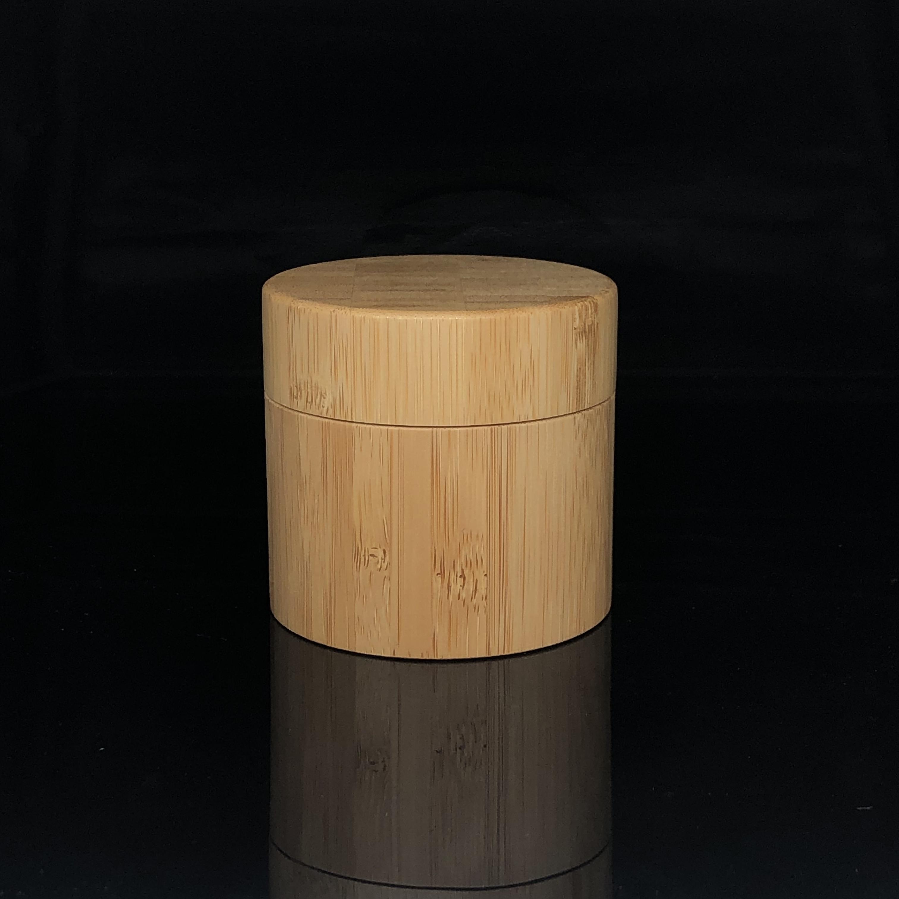 30G Biodegratable Lotion Verpackung Holz Abdeckung PP Inneren Lip Balm Auge Creme Behälter Bambus Kunststoff Jar