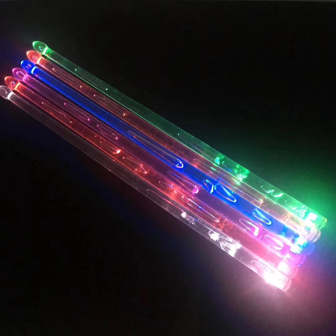 Acrylic Drumstick Bright Led Light Up