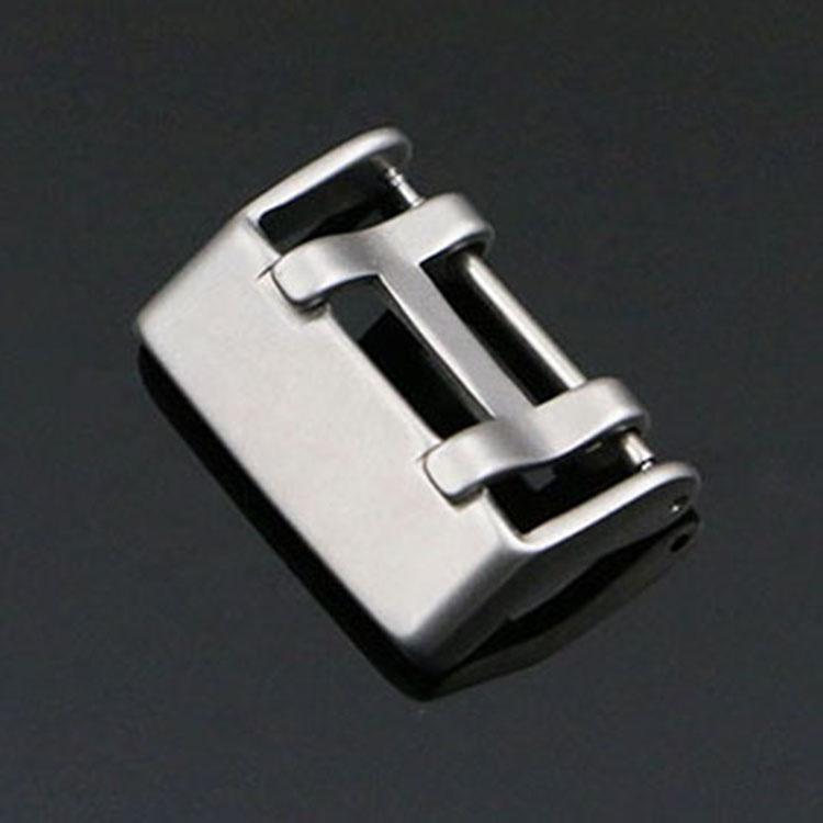 Esporte de borracha de silicone watch strap buckle 22mm 304 explosão da areia prata dupla língua fivela de aço inoxidável