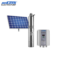 4'' 48v 400w Agricultural Irrigation deep well 100 200 meter head AC DC electric submersible water solar borehole pump system