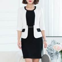 Женский офисный костюм, деловая одежда для работы, модный дизайн, весенне-осенний пиджак, платье-карандаш для женщин размера плюс(Китай)