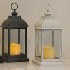 Home Decor Plastic High Quality Wedding Decor With Plastic Candle Build-in Battery Operated Candle Lantern