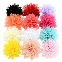 Handmade Chiffon Flowers Boutique hair accessories DIY Flower Headwear Fashion Accessory Hair Flowers No Hair Clip for headband