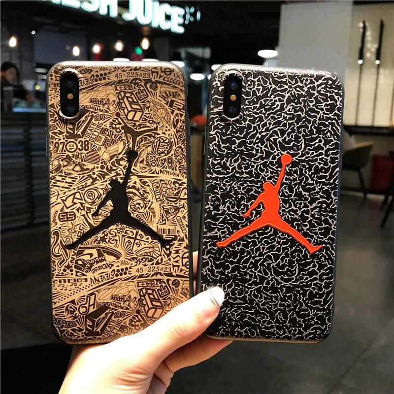 เคสโทรศัพท์แฟชั่นซิลิโคน3D Air Jordan Sports,ปลอกหุ้มรองเท้าบาสเก็ตบอล NBA สำหรับ iPhone 6 7 8 Plus Xs Xr 12พร้อมส่ง AJ11
