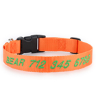 Manufacturer Nylon Custom Embroidered Personalized Dog Collar