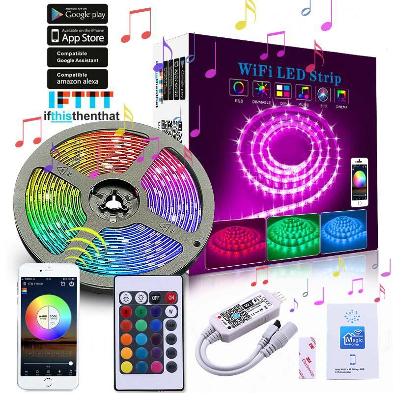 Bande lumineuse led 5050 rgb, 5050, 5050, meilleur prix, luminaire intelligent, application de contrôle pour smartphone, expédition en chine