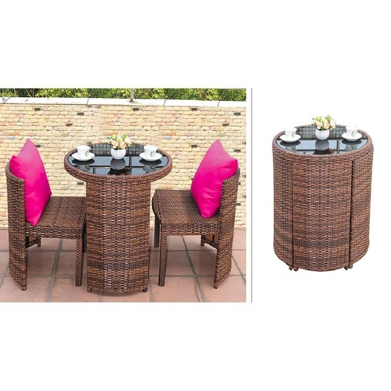 Outdoor Rattan Furniture Balcony Garden Dining Table Set Aluminum Food Court Patio Dining Set Buy Kolam Rotan Set Furniture Rotan Teras Rotan Makan Set Product On Alibaba Com
