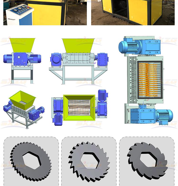 600C آلة تمزيق بقضيب مزدوج وقاطع البلاستيك اليدوي الصلب للاستخدام المنزلي ، تقطيع إعادة تدوير البلاستيك