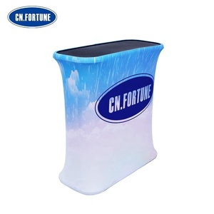 Outdoor Pop Up ABS Plastic and Folding Portable Promotion Counter Table Stand for Guangzhou Display Curved Desk