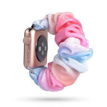 Эластичный ремешок для часов apple watch, 75 стилей, 38 мм, 42 мм, 40 мм, 44 мм, ремешок для часов, спортивный ремешок для iwatch(China)