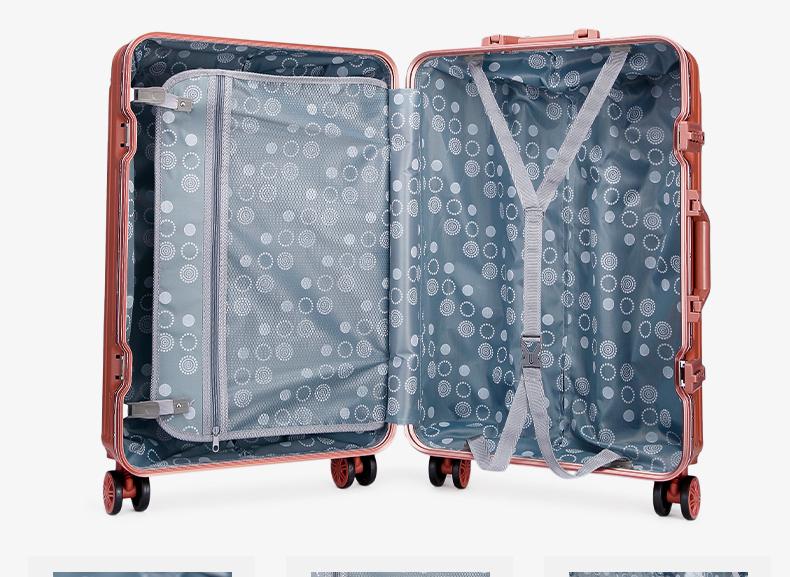 Cadre en aluminium 2 pièces dur de voyage de week-end avec tige rotative coffret hardshell bagages