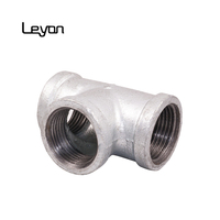 galvanized pipe fitting asme b16.3 galvanized plumbing fittings names 3/4 inch 130 equal Tee pipe fitting