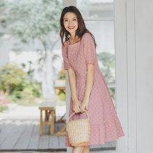 Винтажное платье с коротким рукавом и квадратным воротником в стиле Ким Хюн, Милая ромашка, inman, лето 2020(Китай)