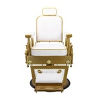 Golden hot selling antique barber chairs gold barber chair for sale Heavy hydraulic Salon barber chair