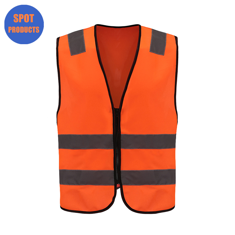 100% polyester tricot <strong>orange</strong> work reflective <strong>vest</strong>