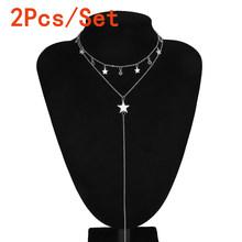 Женское колье-чокер с подвеской в готическом стиле, многослойное ожерелье в стиле панк с длинной цепочкой, богемное украшение на лето 2020(Китай)