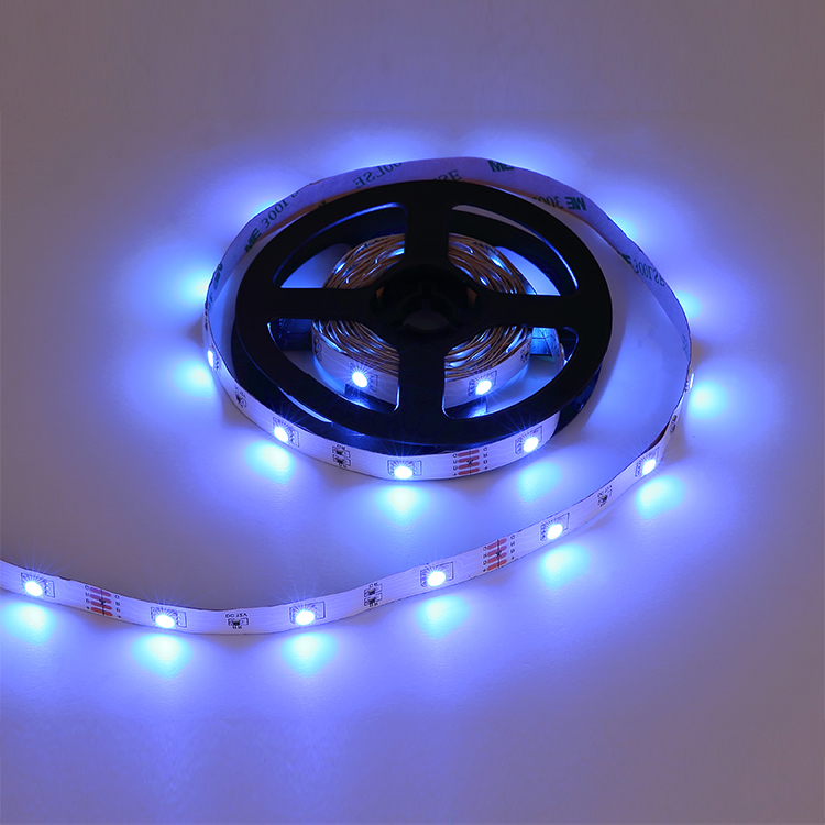 Best selling high quality 3M 12V remote control color changer aluminum rgb led strip light