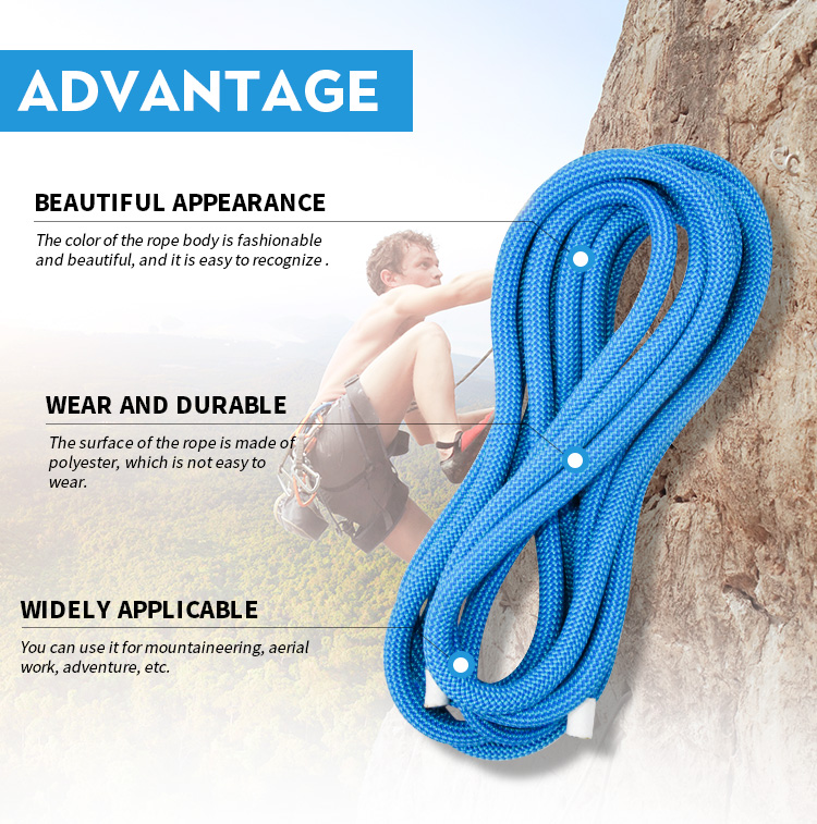 11mm climbing static rock rope