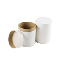 Cardboard tube packaging white cardboard cylinder container with perfume packaging tubes paper push up