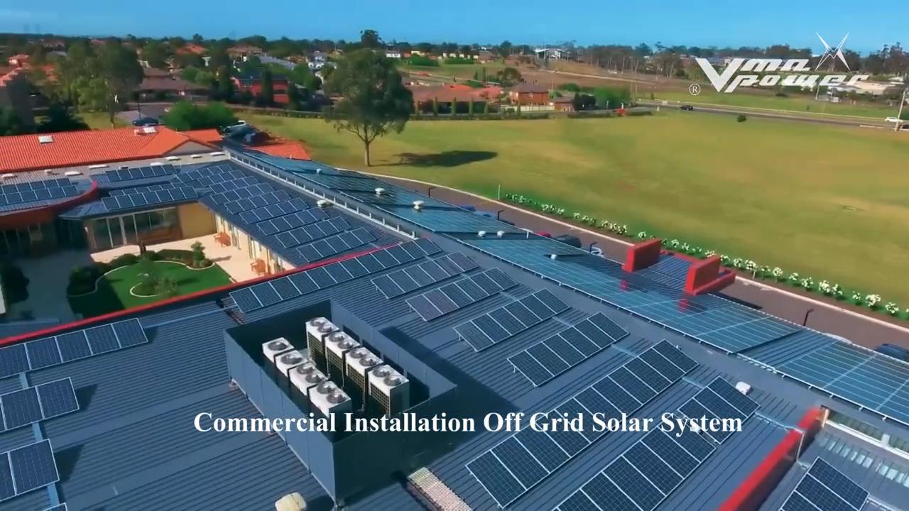 Vmaxpower 3KW 10kw sistema solar fora da grade casa sistema de energia solar para casa 5000W sistema de montagem solar com bateria de lítio de backup