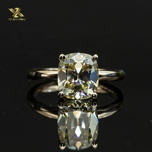 Moissanite Cor Amarelo Claro 8x9 MILÍMETROS Antique Cushion Cut Diamond para 14K Moissanite <span class=keywords><strong>Anel</strong></span> <span class=keywords><strong>de</strong></span> Ouro Rosa