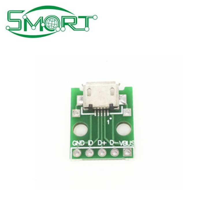 Smart Electronics~MICRO USB to Dip female seat type B Mike 5p patch to the adapter plate has been welded female head