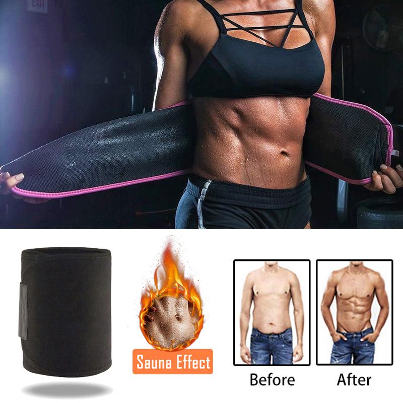 Custom Logo High Quality Sports Tummy Sauna Wrap Band Slimming Sweat Belt Waist Trimmer Belt For Men Women Workout
