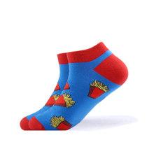 SANZETTI 1 пара 2020 новые мужские летние повседневные носки до щиколотки цветные чесаные хлопковые носки платье с рисунком пингвина Свадебные но...(China)