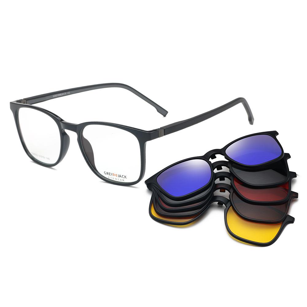 Мужские и женские TR90 магнитные 5 в 1 поляризованные УФ 400 защитные оправы для очков Солнцезащитные очки