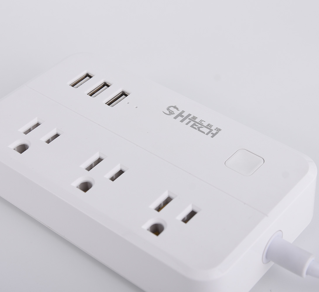 Hotsell Nirkabel Smart WIFI Soket Listrik Steker Switch untuk Amazon Alexa/Google Home 3 Smart Outlet Surge Protector aplikasi