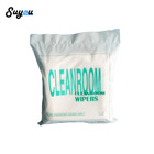 Disposable Lint Free Class 100 Cleanroom Wiper Microfiber Wipe Cloth for LCD Camera Clean