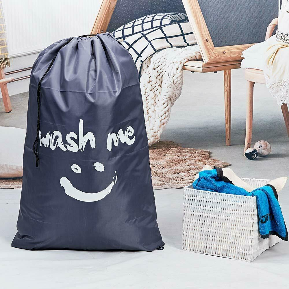 Hot sale high quality waterproof polyester custom logo hotel travel laundry bag