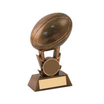 Bronze rugby ball auf streiks trophy awards