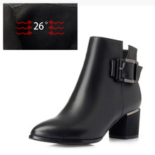 MBR FORCE/зимние женские ботинки из натуральной кожи, красные женские ботинки на высоком каблуке в европейском и американском стиле, 2020(China)