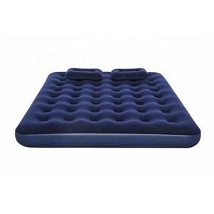 Fashionable comfortable camping inflatable relax flocked air bed