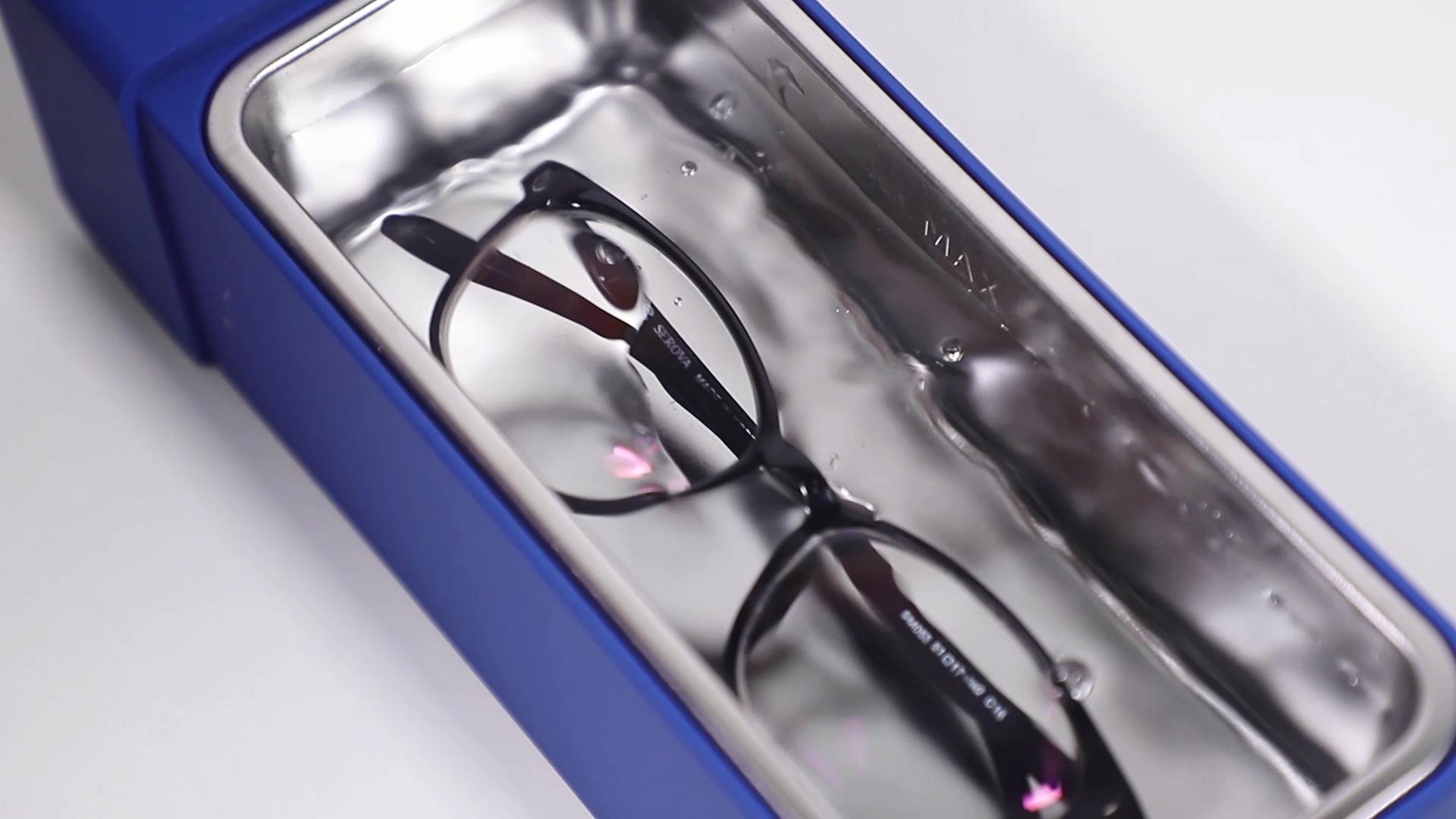 Household safety 600ml portable ultrasonic eyeglass watch jewelry cleaner machine