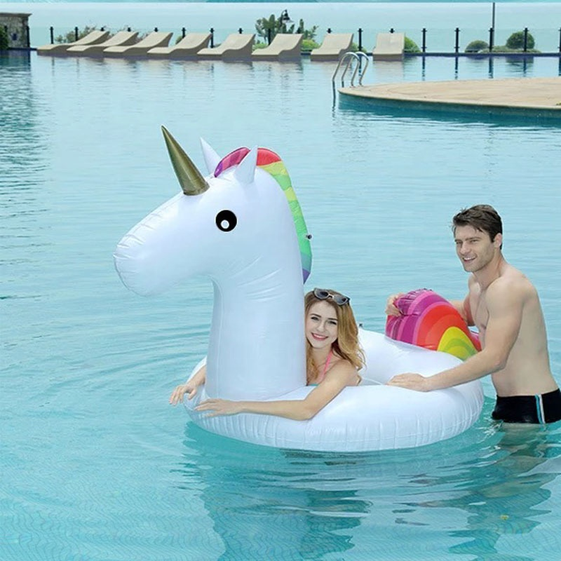 hot sell 1 person inflatable  swan big inflatable ring unicorn swimming ring floating mat summer water paly pool ploat  toy
