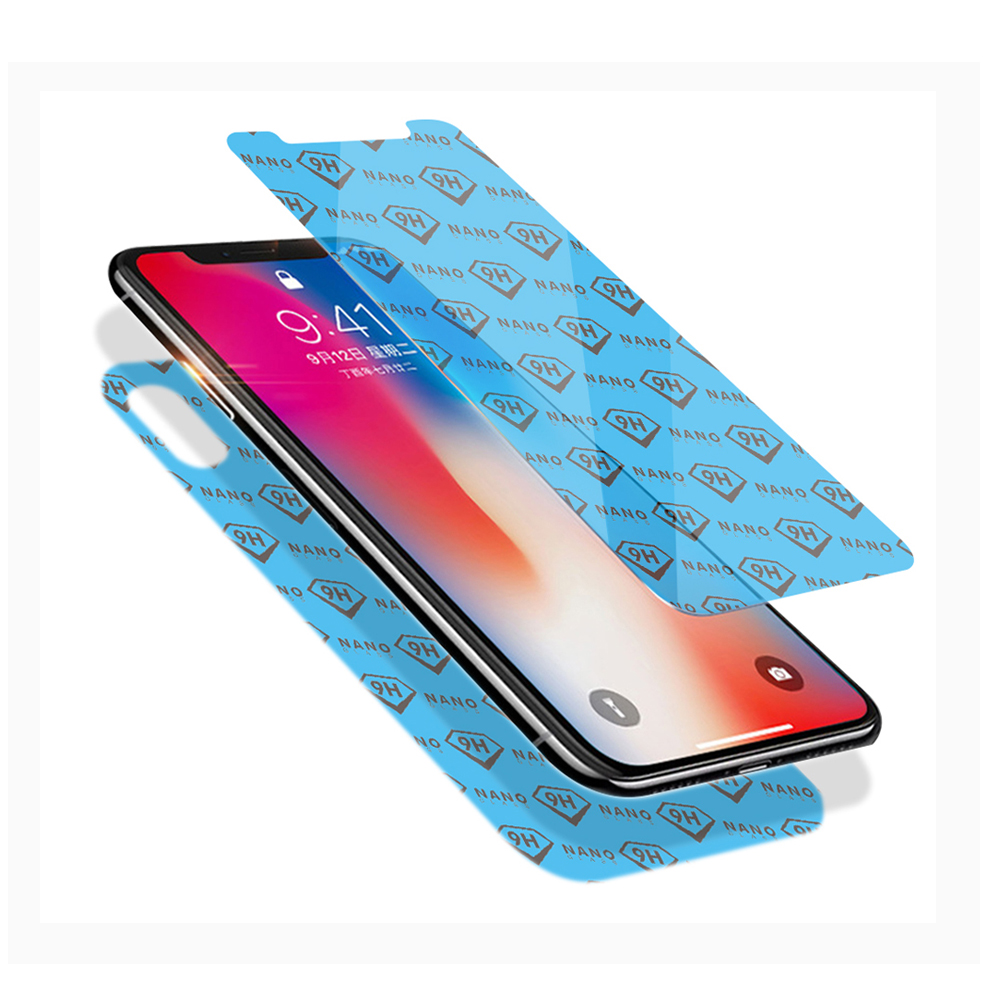 9H 0.26MM Anti Shock Anti scratch Clear ฟิล์ม Nano ยืดหยุ่นสำหรับ Iphone X XS XR XS Max