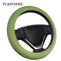 Universal 15 inch Anti Slip heat resistant Car silicone Steering Wheel Cover