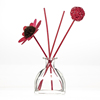 Hot sell 200ml flat square yurt shape glass reed diffuser fragrant bottle with cork