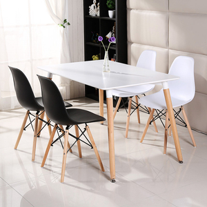 China Wholesale home furniture mdf rectangle modern dining table set 8 seater dining room table and chairs sets