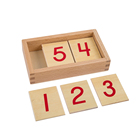 High quality wooden toys montessori mathematics number tiles cards for children