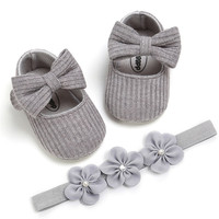 Wholesale new design newborn girl shoes crochet baby shoes soft bottom baby shoes children baby