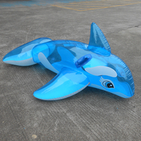 Custom inflatable dolphin float ride-on