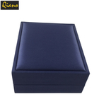 Custom Luxury Blue Lars Leather Jewelry Packaging Box