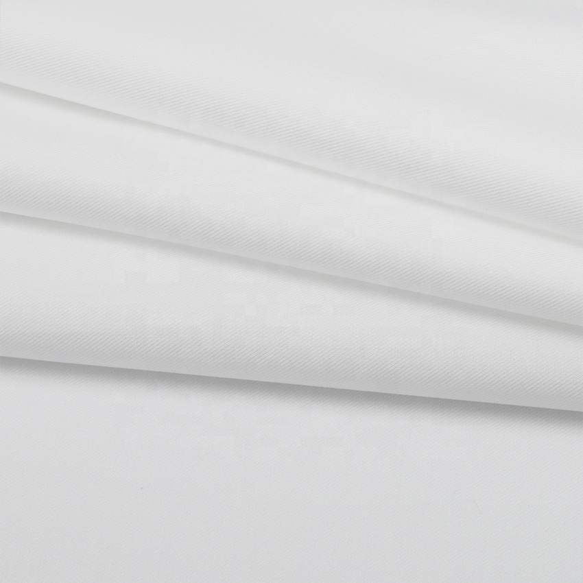 White wholesale twill 40% bamboo fiber 40% polyester 20% cotton fabric