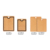 Eco Friendly wood fiber material BPA free Melamine free LFGB food safe meat cutting board with anti-slip feet