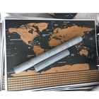 59.5*82.5 Cm Custom Decorative Wall Sticker Poster Map World Map With Paper Tube